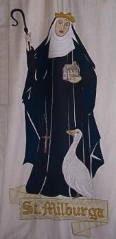 St Milburga 8th century saint.